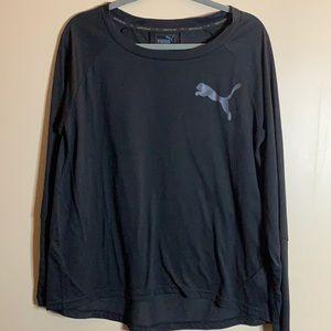 Puma Men's Black Long Sleeved Top
